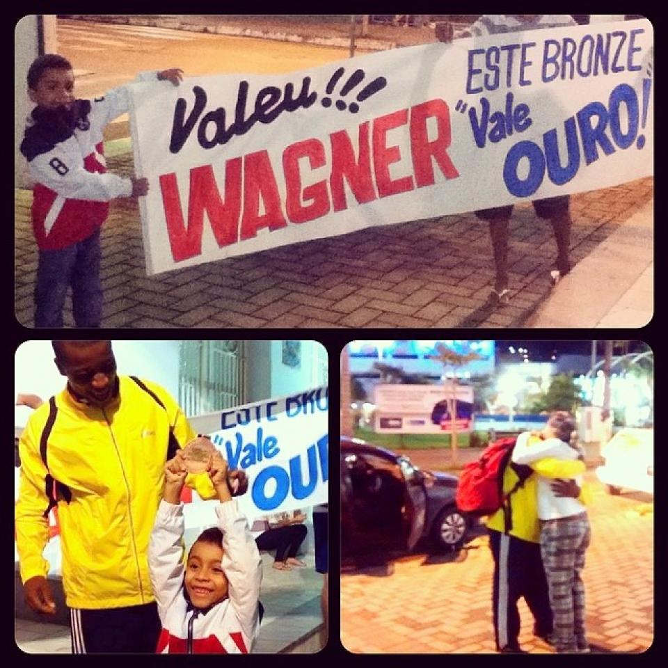 a recepção a wagner nunes, medalha de bronze no mundial de jiu jitsu em dubai